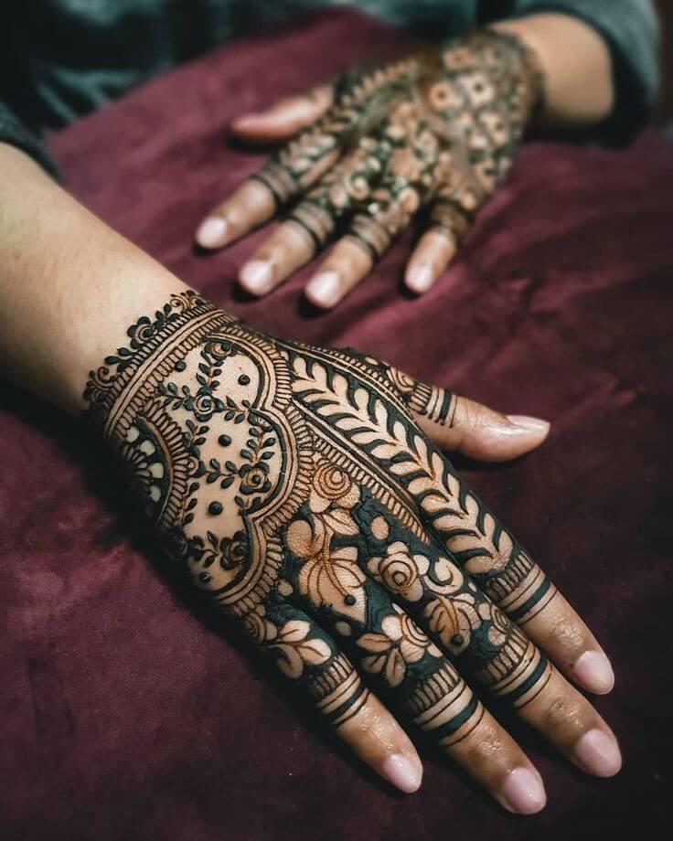 Super Trendy & Unique Arabic Mehendi Designs For Brides
